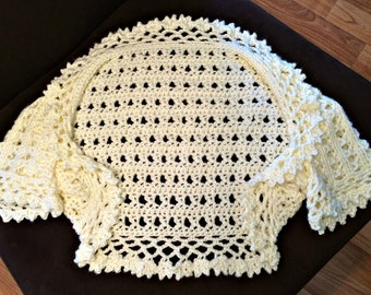 "Crochet Shrug  ""Aida Shrug"""