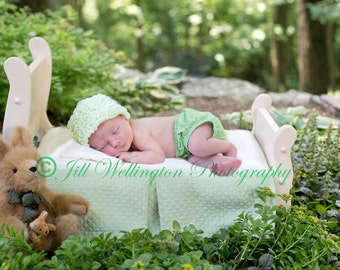 DIGITAL Background for Baby child infant newborn kid photo photography prop for photographers:Sweet Pea Bed in Forest