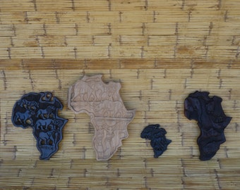 African map with wild animals
