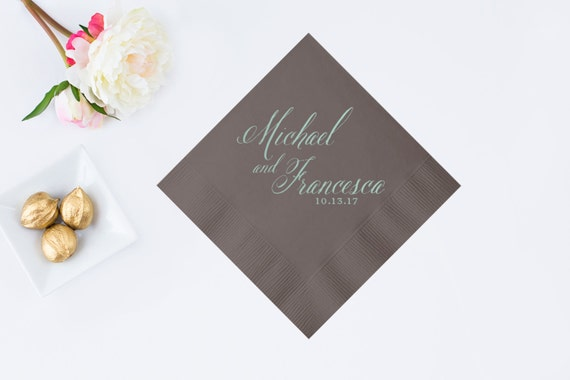 Wedding Cocktail Napkins Personalized Cocktail By DetailsandPaper