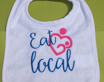 Eat Local Baby Bib