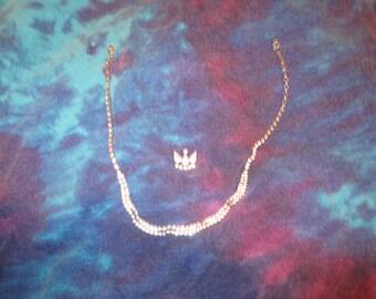 Vintage Rhinstone Necklace w/Rhinstone Pin