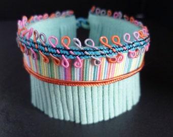 Mint Bracelet. Cuff bracelet. Trim bracelet.