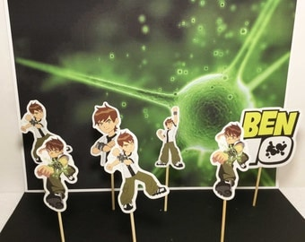 Ben 10 cupcake topper, party solution decoration, theme cupcake, birthday cupcake toppers,Ben 10 inspired