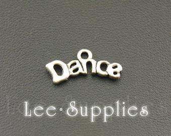 30pcs Antique Silver Alloy  Dance Charms Pendant A1090