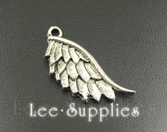 10pcs Antique Silver Alloy Metal Angel Wings Charms Pendant A764