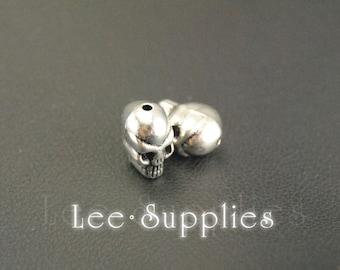 10pcs Antique Silver Alloy Amazing Detail 3D Skull Charms Pendant A352