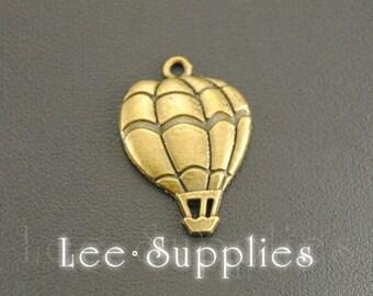 10pcs Antique Bronze Alloy Metal Hot Air Balloon Charms Pendant A451