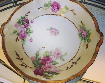 Antique French Limoges Porcelain bowl