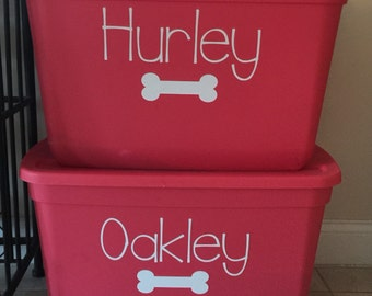 Dog Food Bin decals