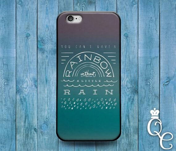iPhone 4 4s 5 5s 5c SE 6 6s 7 plus iPod Touch 4th 5th 6th Gen Cool Weather Green Cover Cute Rain Rainbow Girl Boy Quote Unique Phone Case