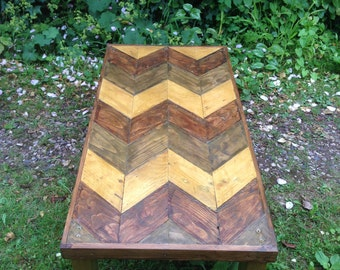 Reclaimed Patterned Wooden Coffee table