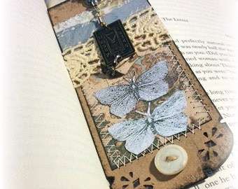 Butterfly Bookmark Vintage Styled, cottage Chic, Shabby Chic