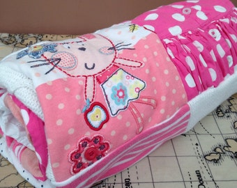 Handmade keepsake blanket made with favourite baby / children's clothing