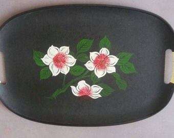 Vintage Tray with Flowers '60
