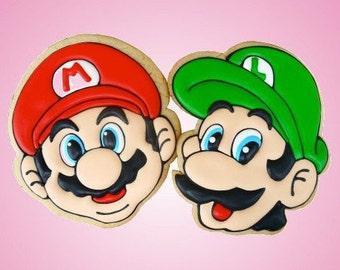 Nintendo Mario Bros aluminium cookie cutters