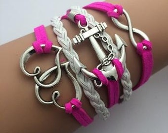 Double hearted pink bracelet