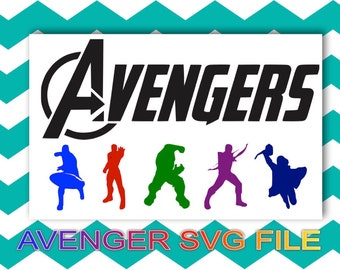 AVENGER SVG file, Hulk, Hawk eye, Iron Man. Captin America, Thor