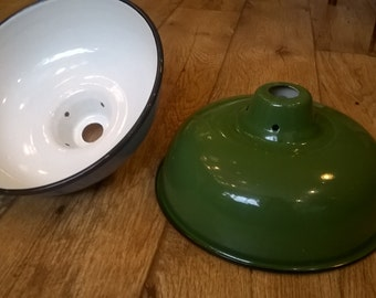 Enamel Lamp Shade - Green
