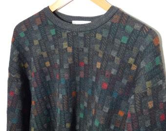 XL - Merino Wool - Colorful Blocks - Tricots St Raphael
