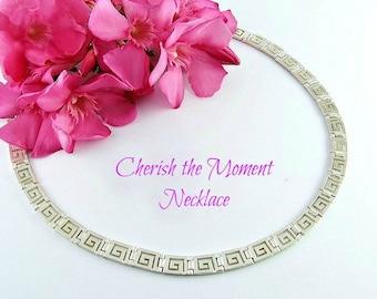greek key necklace, meander necklace, greek necklace, greek jewelry, greek, greek key, silver necklace, greek key jewelry, maze necklace