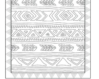 Items Similar To Paisley Printable Coloring Pages For