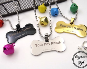 Personalized Custom made Laser Engrave Stainless Steel Dog Tag Pet ID