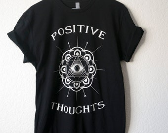 Black Positive Thoughts T Shirt