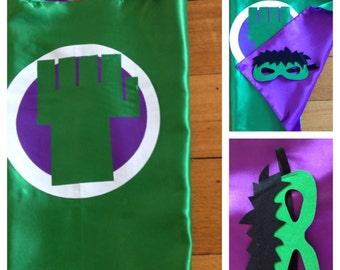 Hulk Cape & Mask Set