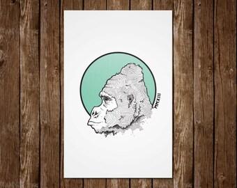 King Kong - Gorilla Print