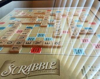 CUSTOM Scrabble Wall Art