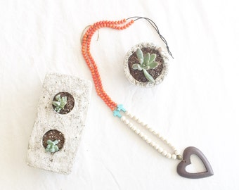 Long, Statement necklace, beaded necklace