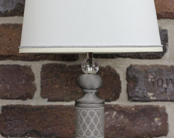 D'Kei Accent Lamp - Grey with Woven Jacquard tape