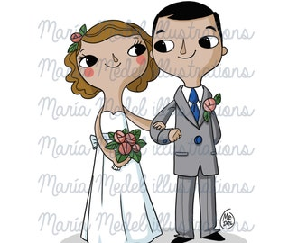¡ VENTA! -20% descarga instantánea - digital clip art, se casó con color par