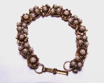 """Vintage Flower Bracelet 7"""""""