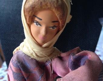 Antique Israel Art Doll, Jewish Art Doll, vintage jewish doll, israeli souvenir doll, jewish souvenir doll, antique jewish doll, jewish doll