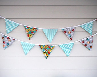 Bunting - Floral, Stripe & Chevron - Ready to Ship