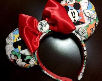 Classic Mickey Mouse Comic Strip Headband