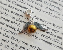 Harry Potter Inspired Golden Snitch Winged Bead European Style Charm for Pandora Style Rope Bracelet