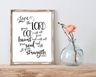 Love the Lord Your God 5x7 printable