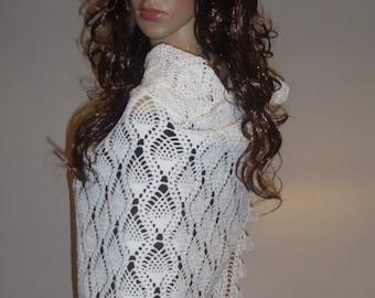 white shawl, Wedding shrug, Bridal cover, Bridal white shrug, bridesmaid cover , Fall wedding shawl mercerized cotton