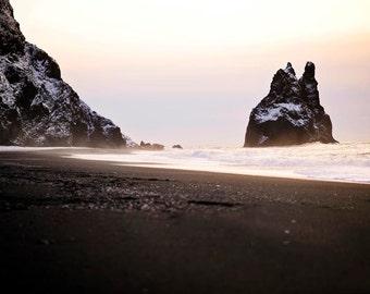 Icelandic Black Sand Beach Photography Print