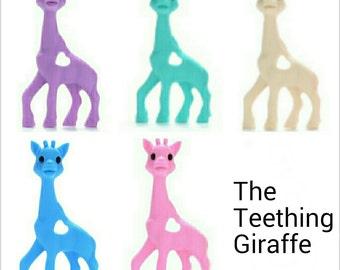 Silicone Teething Giraffe - Nursing Baby Wearing - Sensory - Non Toxic - Safety Certified