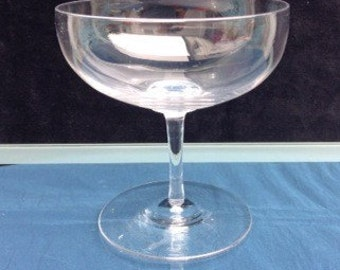 19thC Victorian Lead Crystal Glass Champagne Saucer Perfect