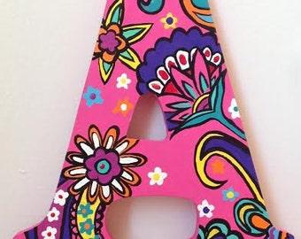 Pink Floral Hanging Letter