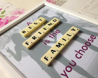 Scrabble Photo Frames, Personalised Gifts, Best Friend Gift