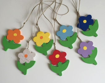 5 Handmade Wooden Flowers
