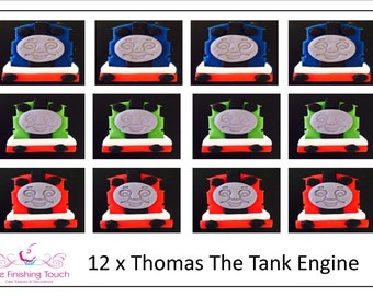 12 x Edible Fondant Thomas The Tank Engine Cupcake/Cake Toppers