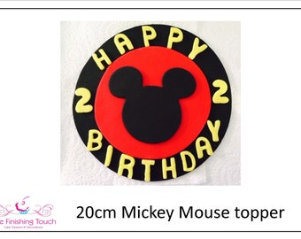 20cm/8inch Mickey Mouse Cake Topper