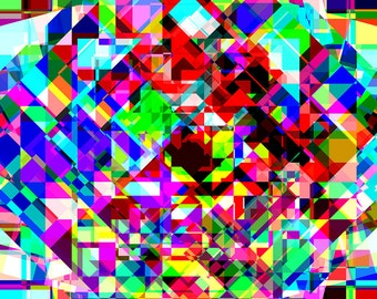Instant Download - Bright Geometric Colors Array